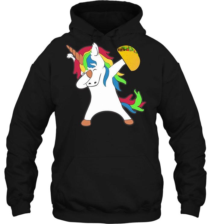 Dabbing Unicorn Taco Hoodie