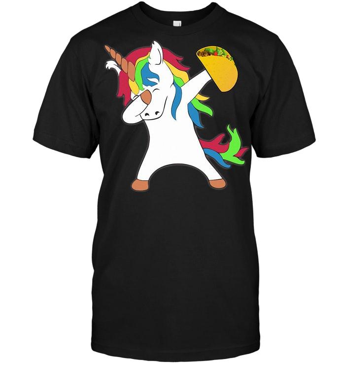 Dabbing Unicorn Taco T Shirt