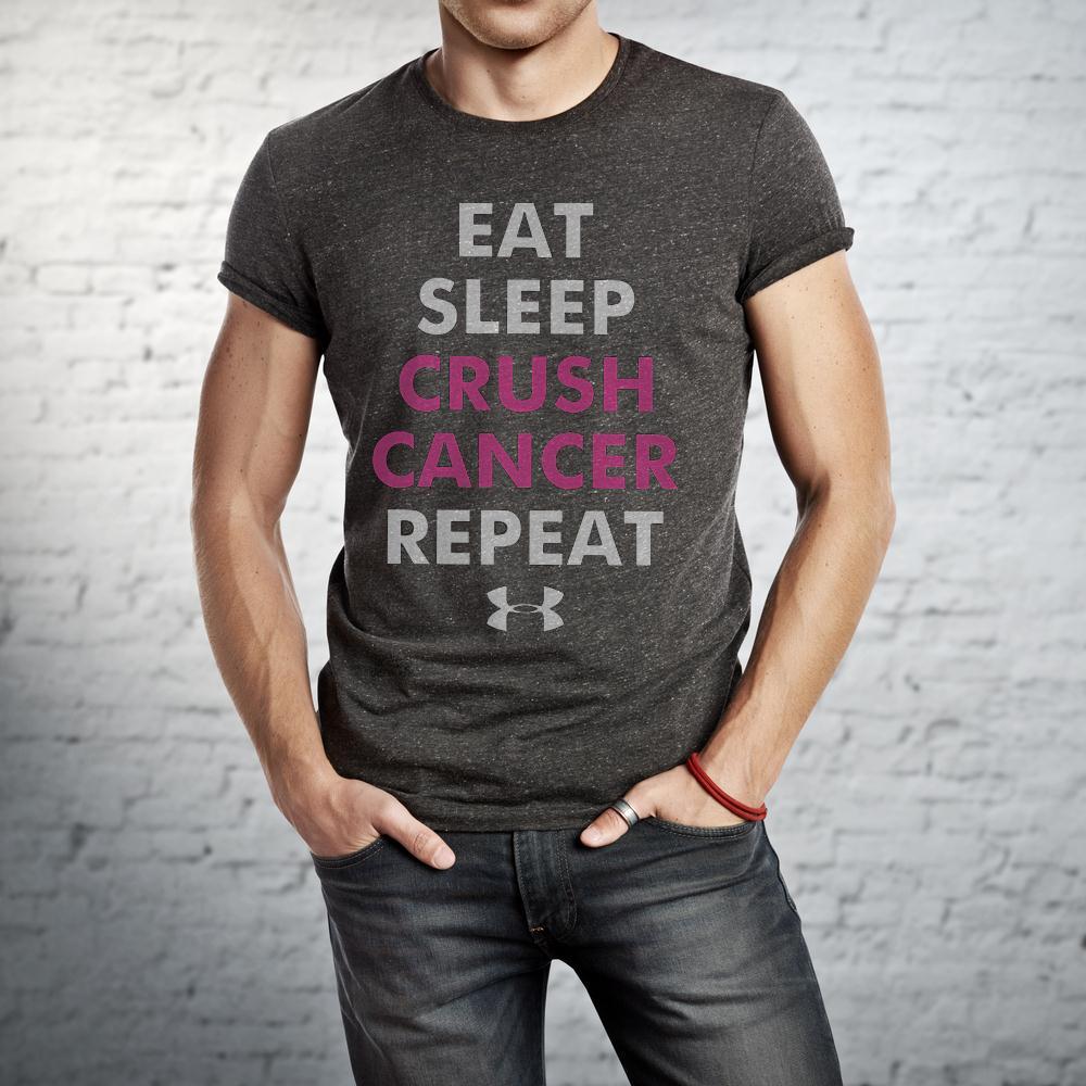 Eat Sleep Crush Cancer Repeat T Shirt