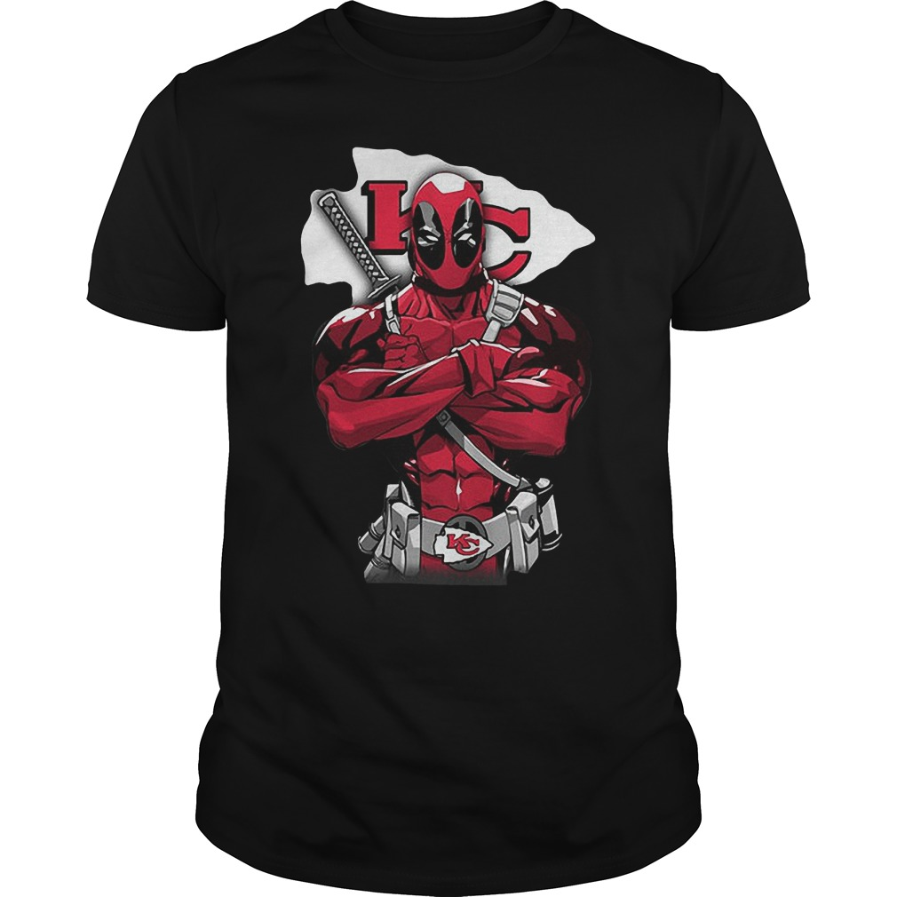 Giants Deadpool Kansas City Chiefs T Shirt Guys Tee.jpg