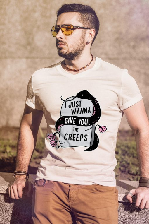 I Just Wanna Give You The Creeps Pastel Goth Snake T Shirt