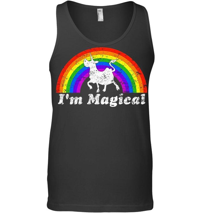 I'm Magical Rainbow Unicow Tanktop