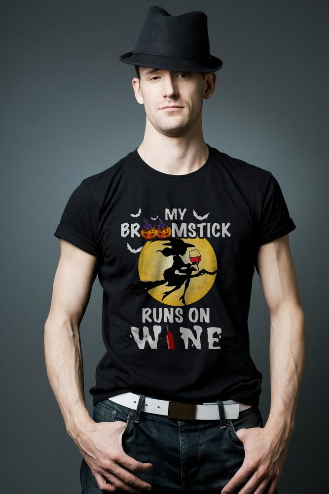 My Broomstick Runs On Wine T Shirt