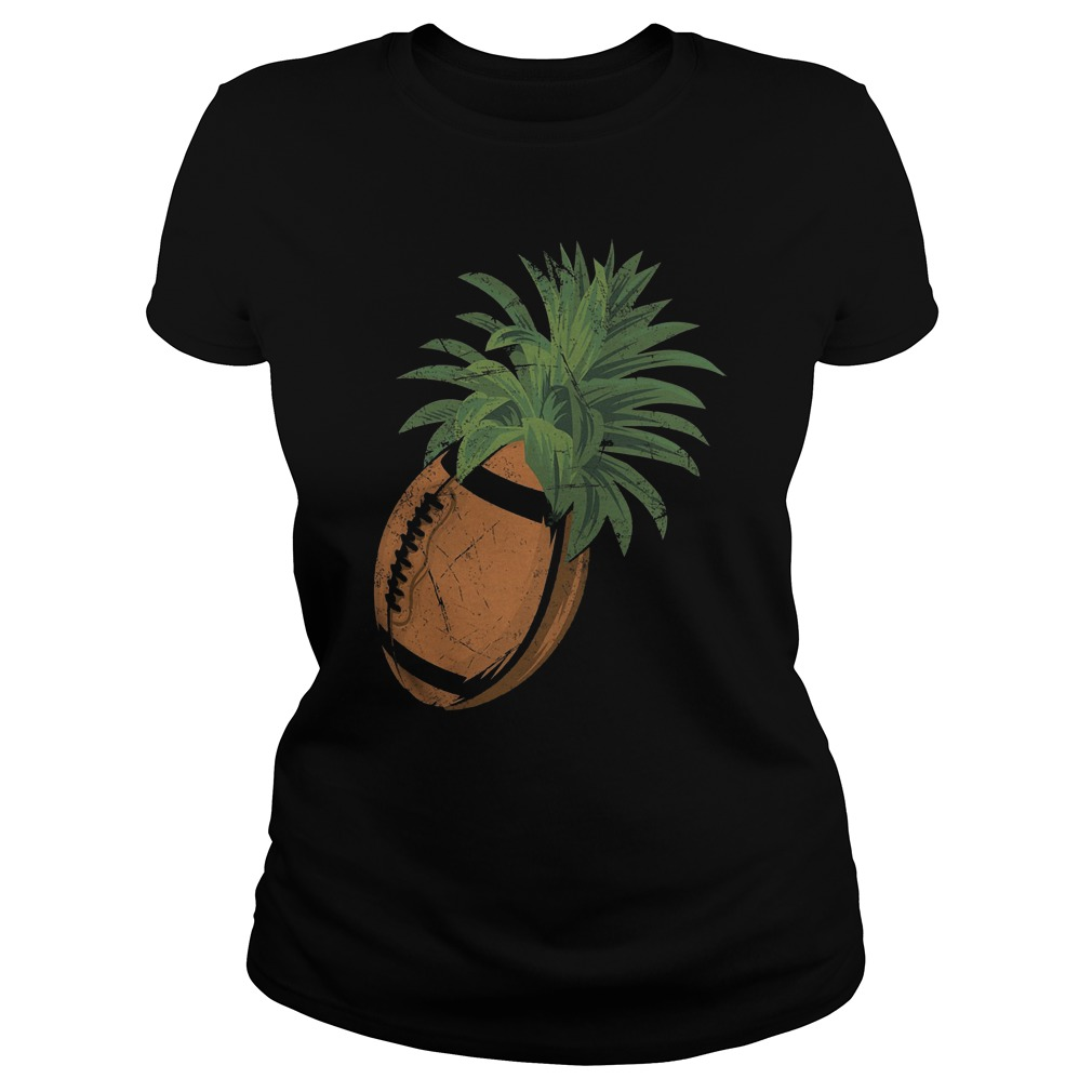 Pineapple Football T-Shirt Classic Ladies Tee