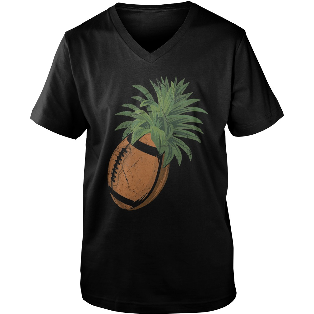 Pineapple Football T-Shirt Guys V-Neck