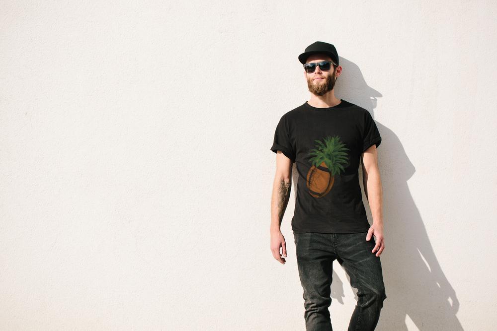 Pineapple Football T Shirt
