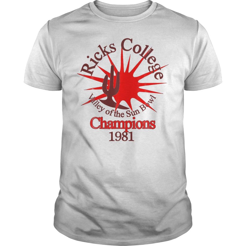 Ricks College Champions 1981 T-Shirt Classic Guys / Unisex Tee