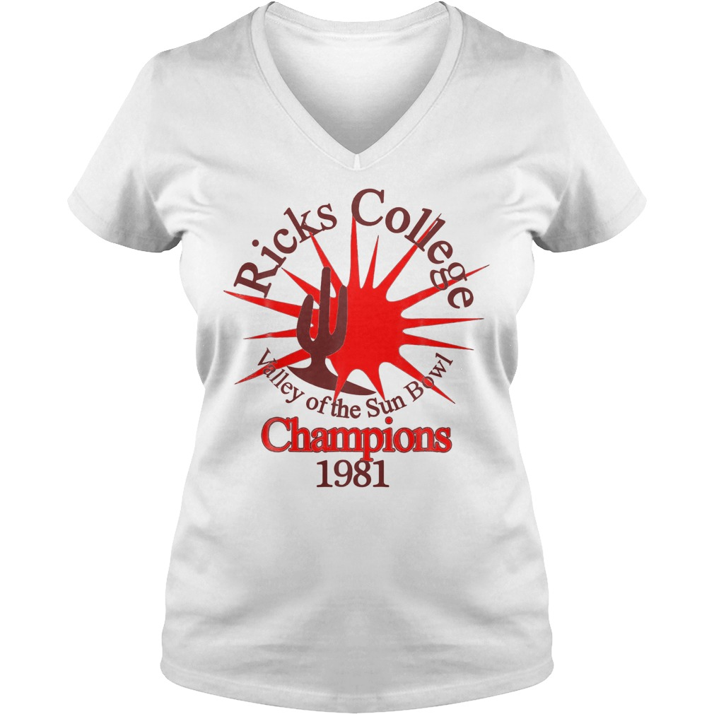 Ricks College Champions 1981 T-Shirt Ladies V-Neck