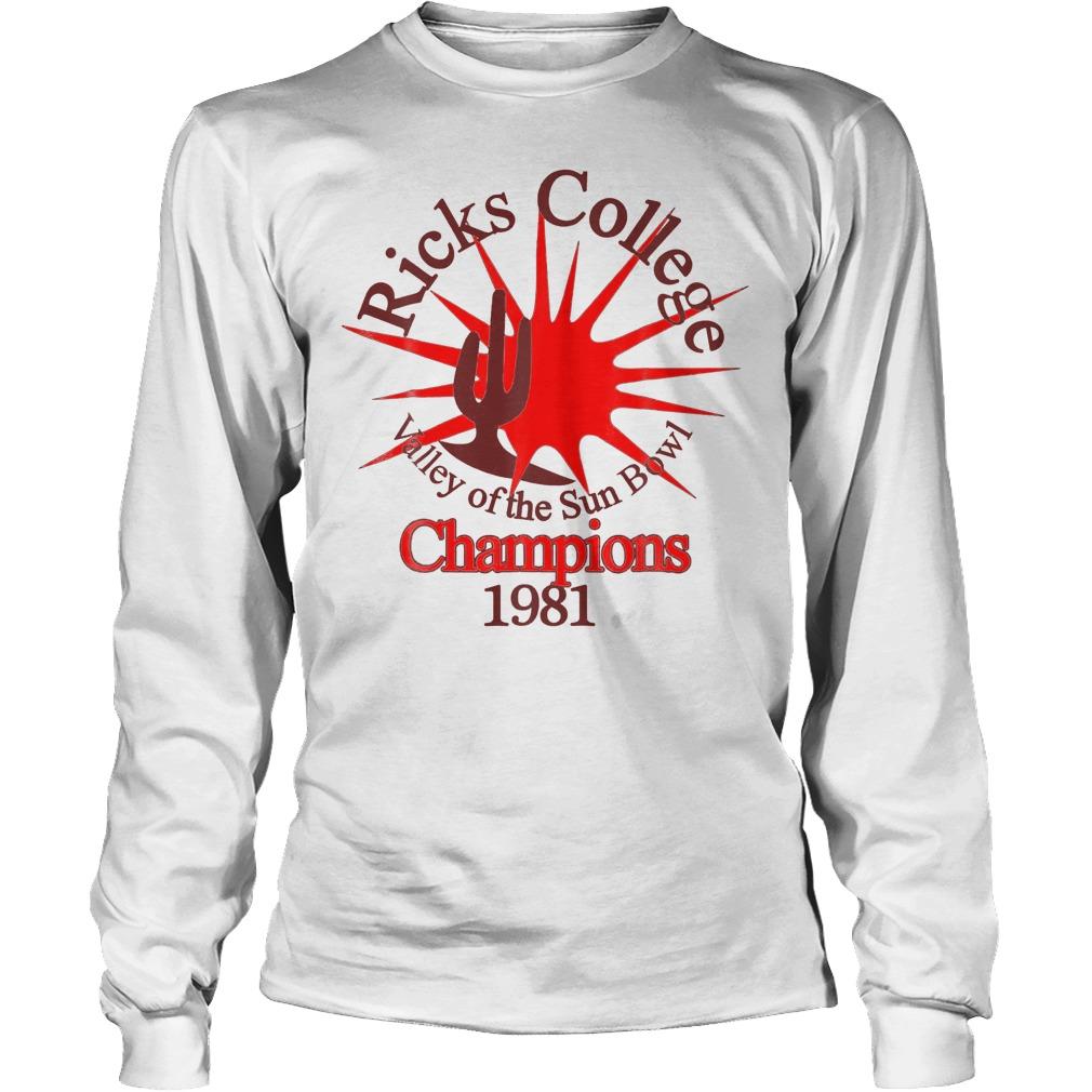 Ricks College Champions 1981 T-Shirt Longsleeve Tee Unisex