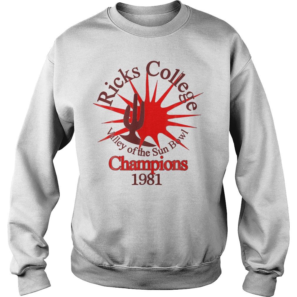 Ricks College Champions 1981 T-Shirt Sweatshirt Unisex