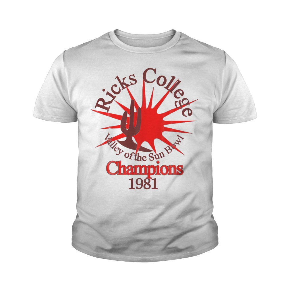 Ricks College Champions 1981 T-Shirt Youth Tee