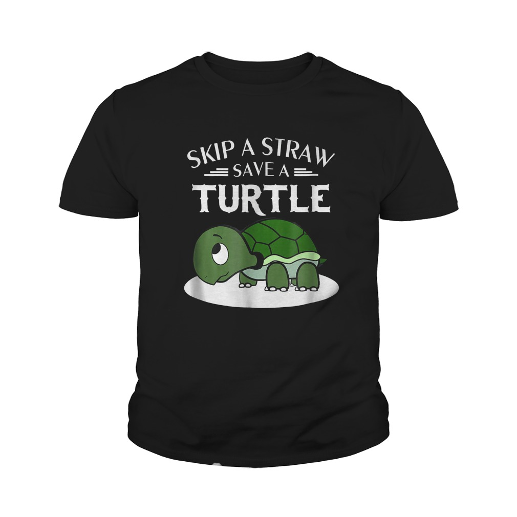 Skip A Straw Save A Turtle T-Shirt Youth Tee