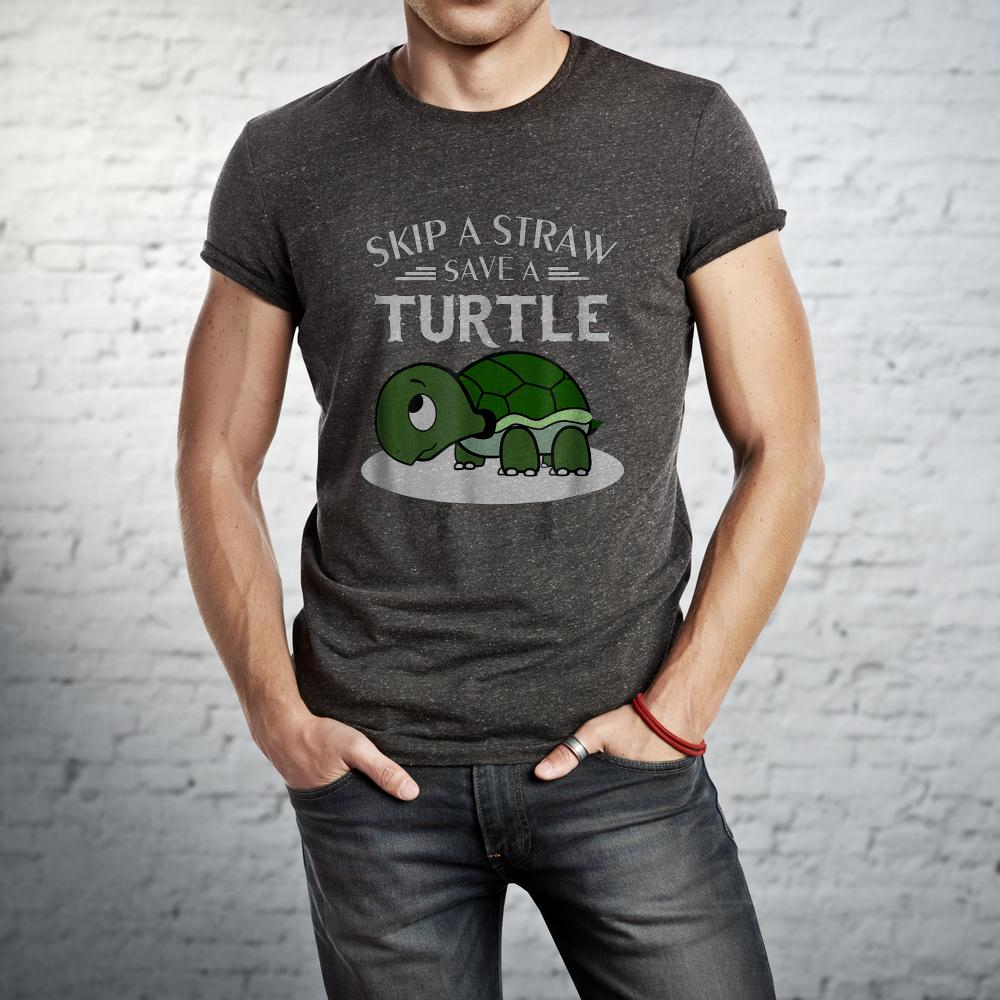 Skip A Straw Save A Turtle T Shirt