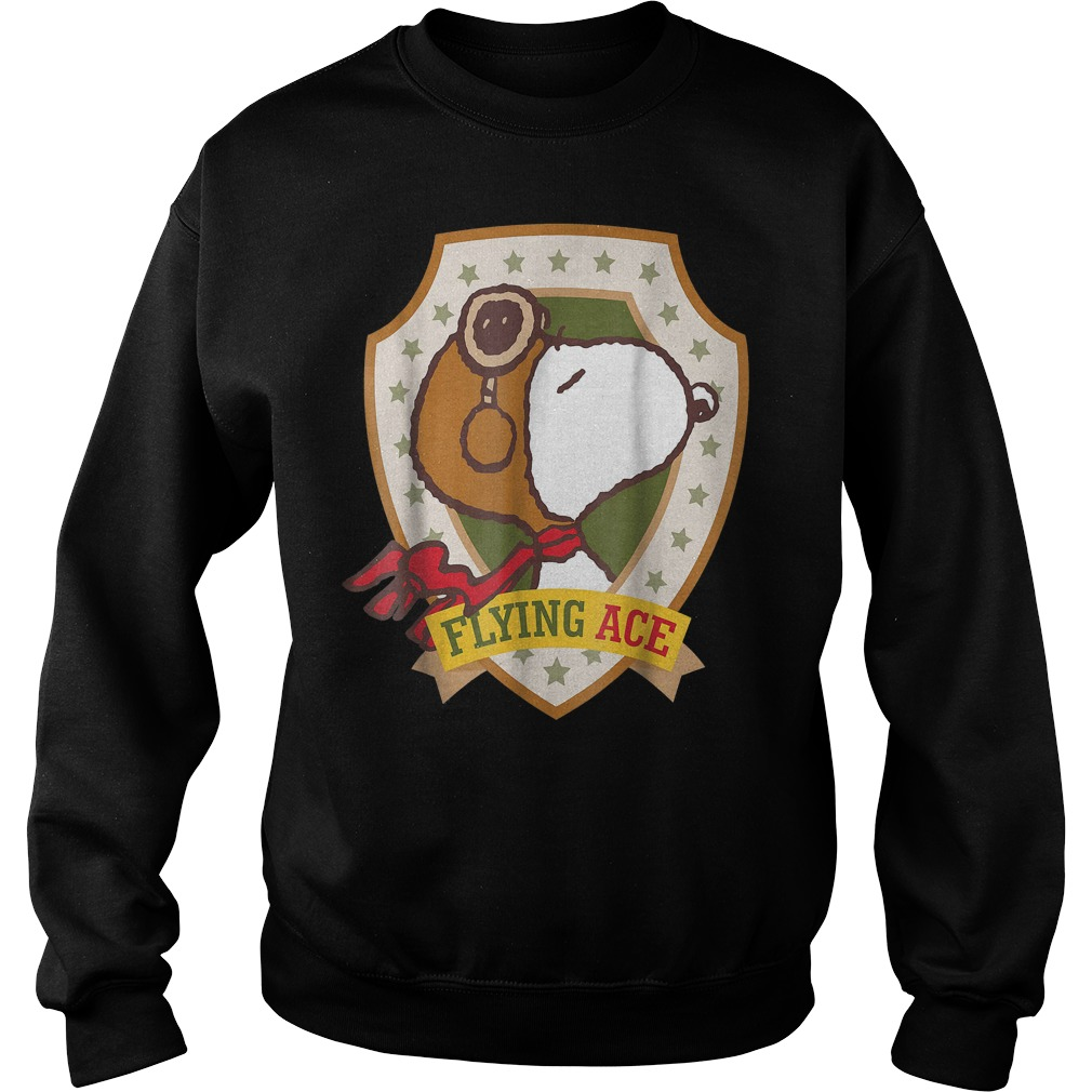 Snoopy Flying Ace Peanuts T-Shirt Sweat Shirt