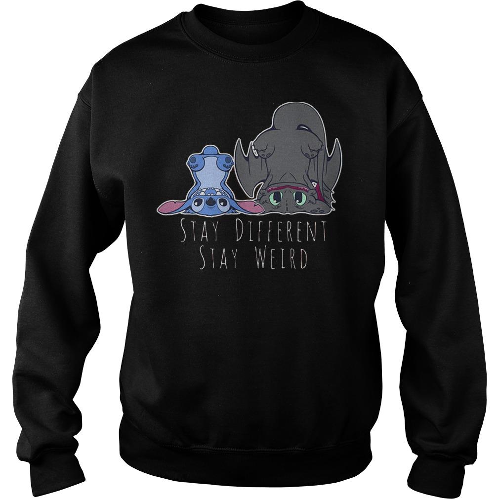 Stitch Stay Different Stay Weird T-Shirt Sweatshirt Unisex