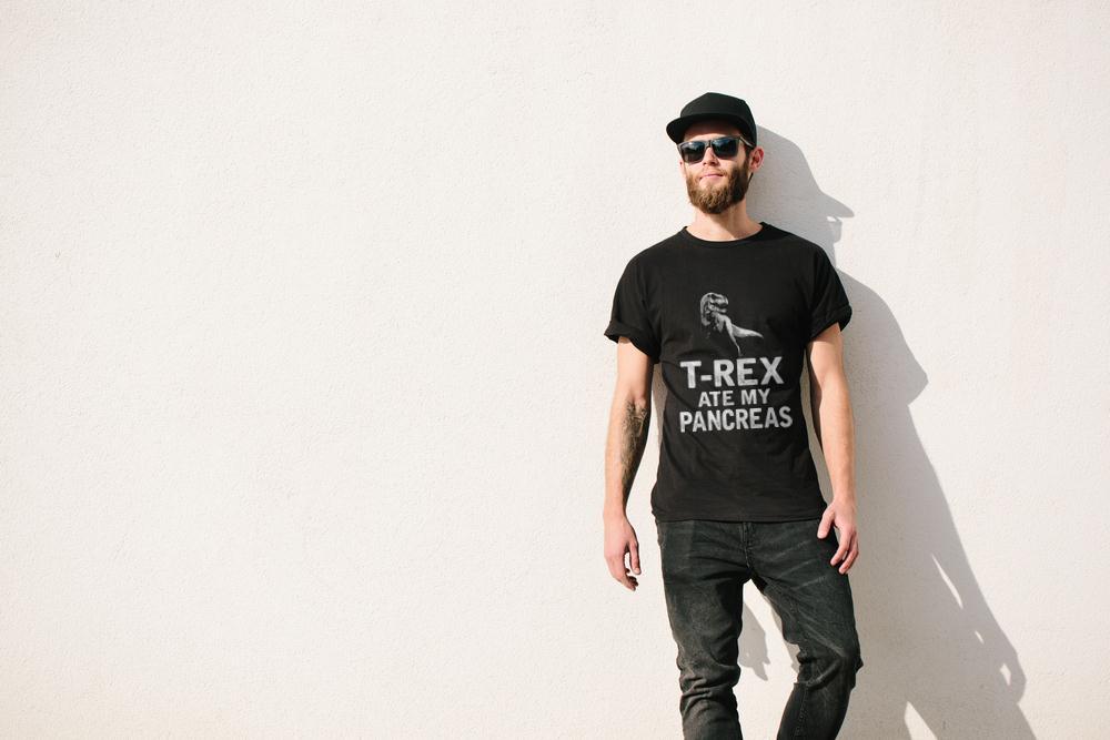 T Rex Ate My Pancreas T Shirt