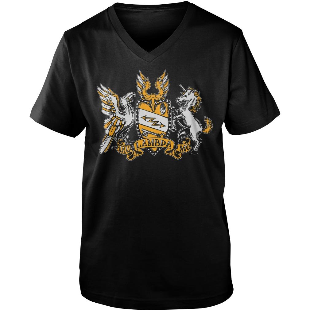 Tau Lambda Mu - Tam Crest T-Shirt Guys V-Neck