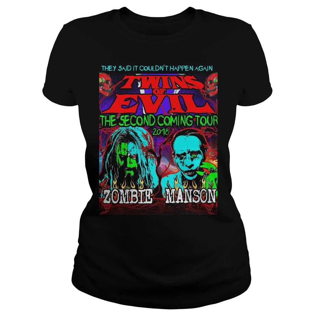 They Said It Couldn't Happen Again Twins Of Evil T-Shirt Classic Ladies Tee