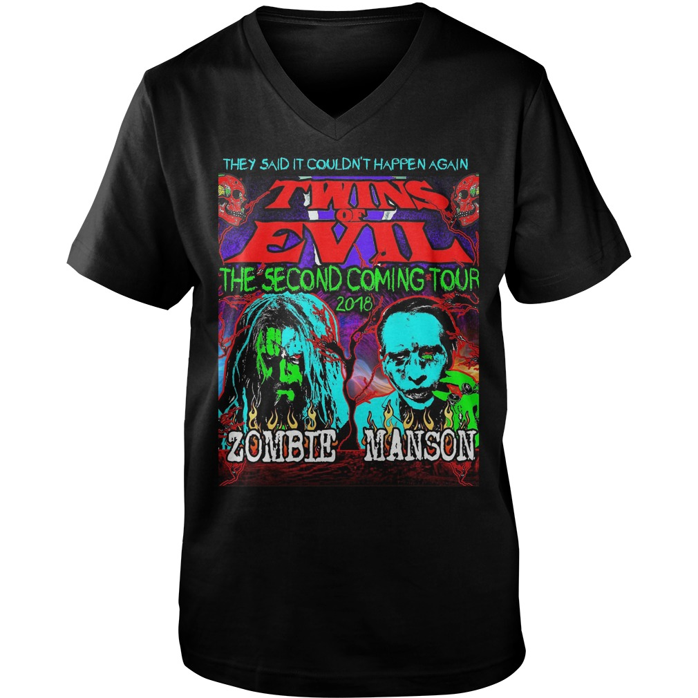 They Said It Couldn't Happen Again Twins Of Evil T-Shirt Guys V-Neck