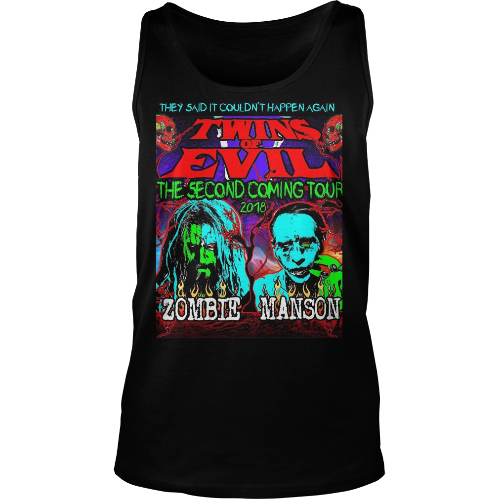 They Said It Couldn't Happen Again Twins Of Evil T-Shirt Tank Top Unisex