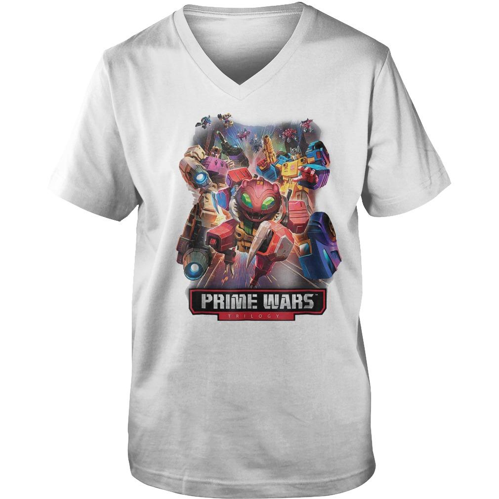 Transformers Prime Wars Trilogy T-Shirt Guys V-Neck