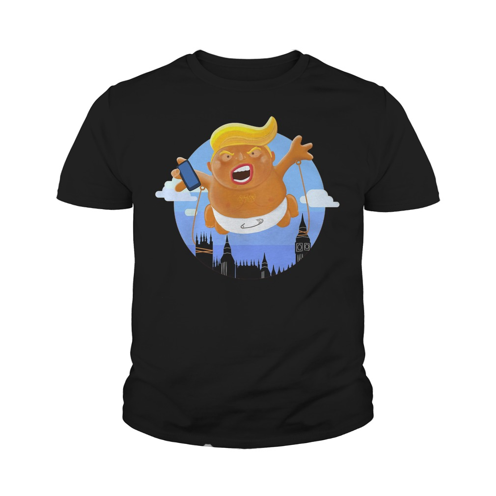 Trump Big Graphic Inflatable Baby Blimp Balloon T-Shirt Youth Tee
