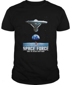 Trumps Space Force Ussf With Star Trek Boldly Go T Shirt