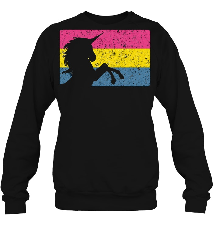 Vintage Pansexual Unicorn Pride Flag Sweater