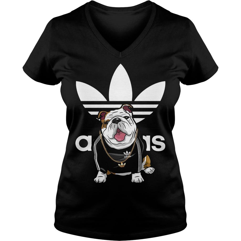 Adidas Bulldog shirt Ladies V-Neck