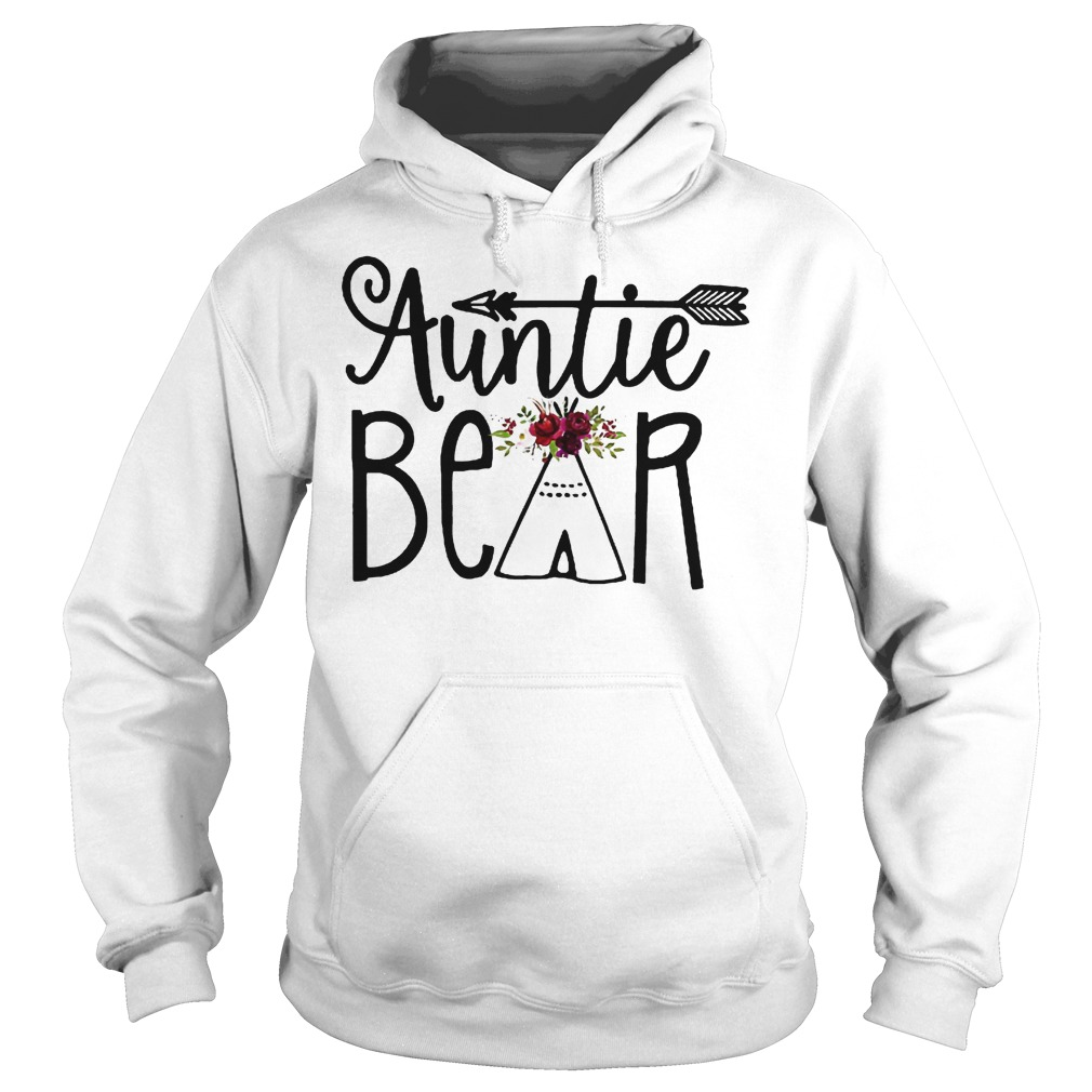 Auntie Bear Flower Tent Arrow Shirt Hoodie