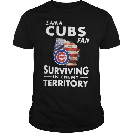 Chicago Cubs I am a Cubs fan surviving in enemy territory shirt