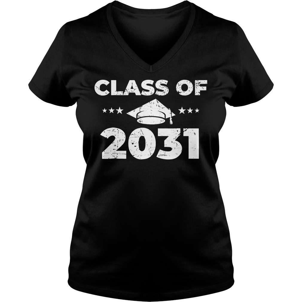 Class of 2031 Shirt Ladies V-Neck