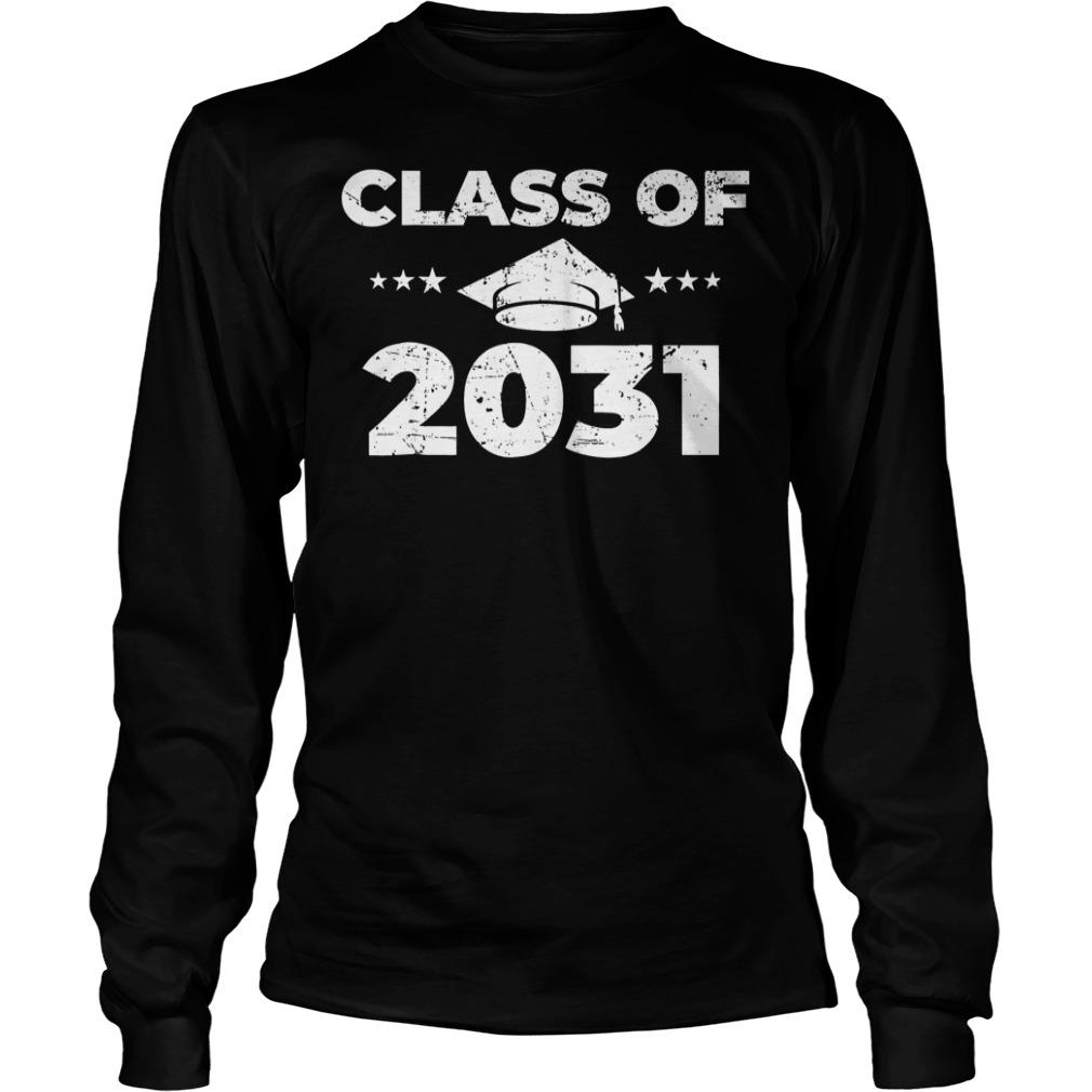 Class of 2031 Shirt Longsleeve Tee Unisex