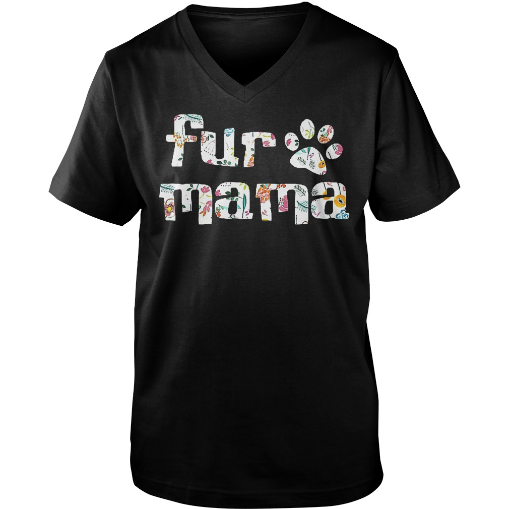 Fur Mama Paw's Dog T-Shirt Guys V-Neck