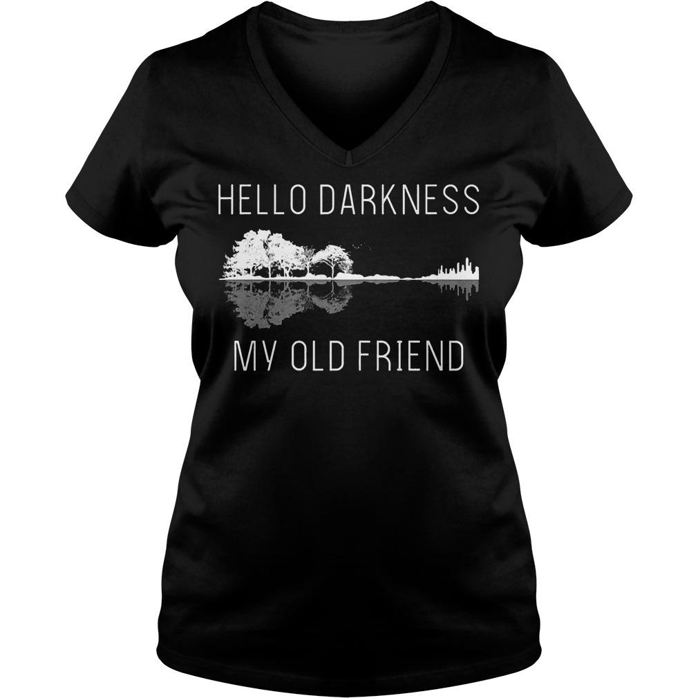 Guitar hello darkness my old friend Shirt Ladies V-Neck