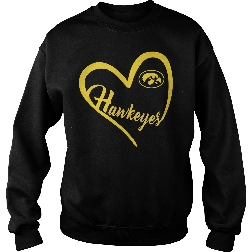 Iowa Hawkeyes football Heart Shirt Sweatshirt Unisex