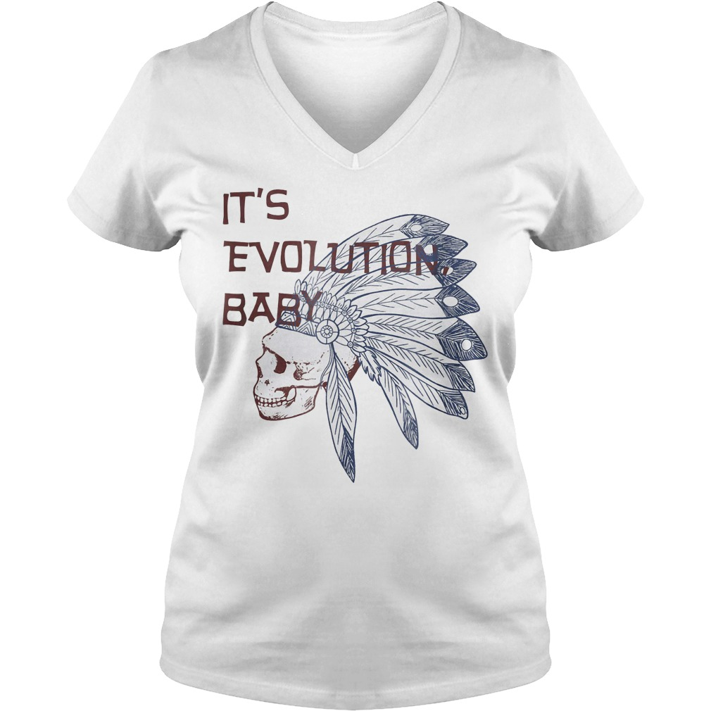 It's Evolution Baby shirt Ladies V-Neck