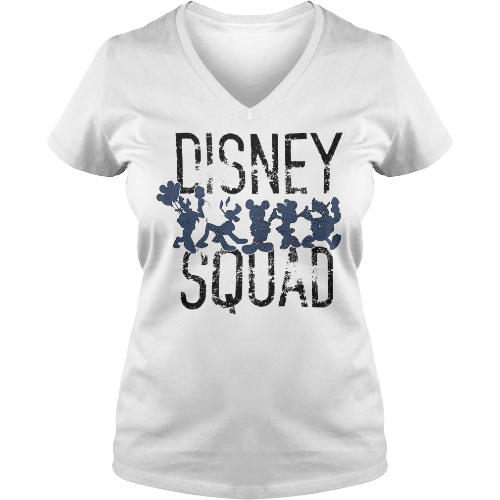 Mickey Mouse Disney Squad Shirt Ladies V-Neck