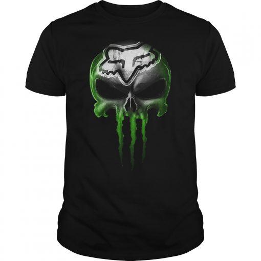 Motocross Green SkullShirt