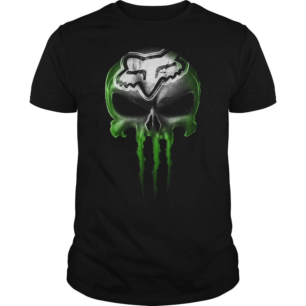 Motocross Green Skull Shirt