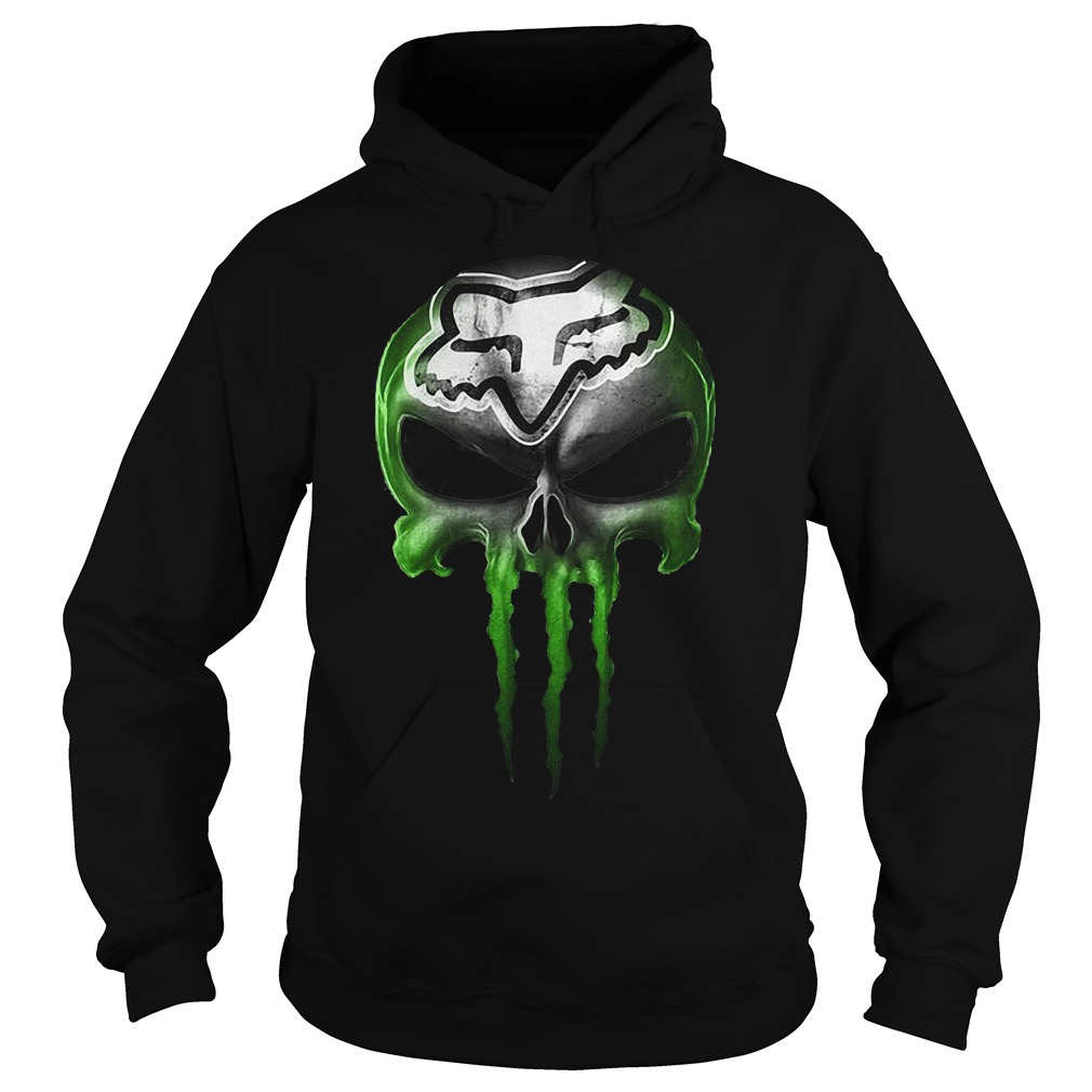 Motocross Green Skull Hoodie