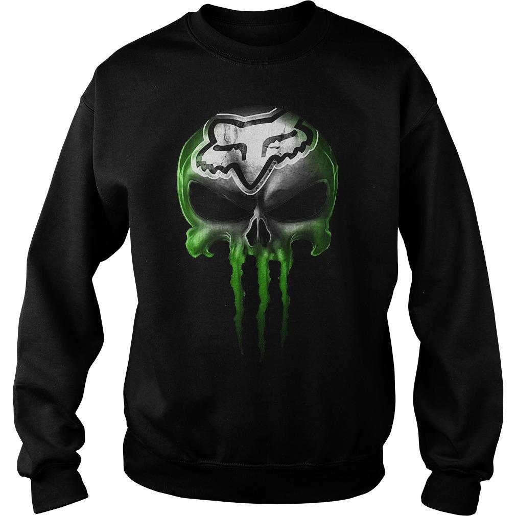 Motocross Green Skull Sweatshirt Unisex