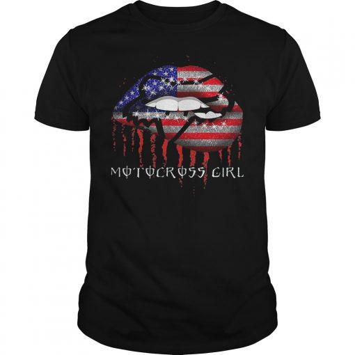 Motocross Girl Lips Shirt