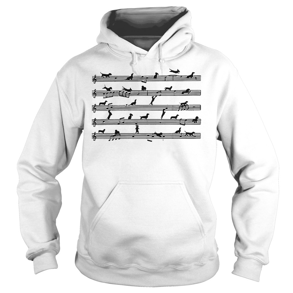 Musical Staff Dachshund Melodious Staves Shirt Hoodie