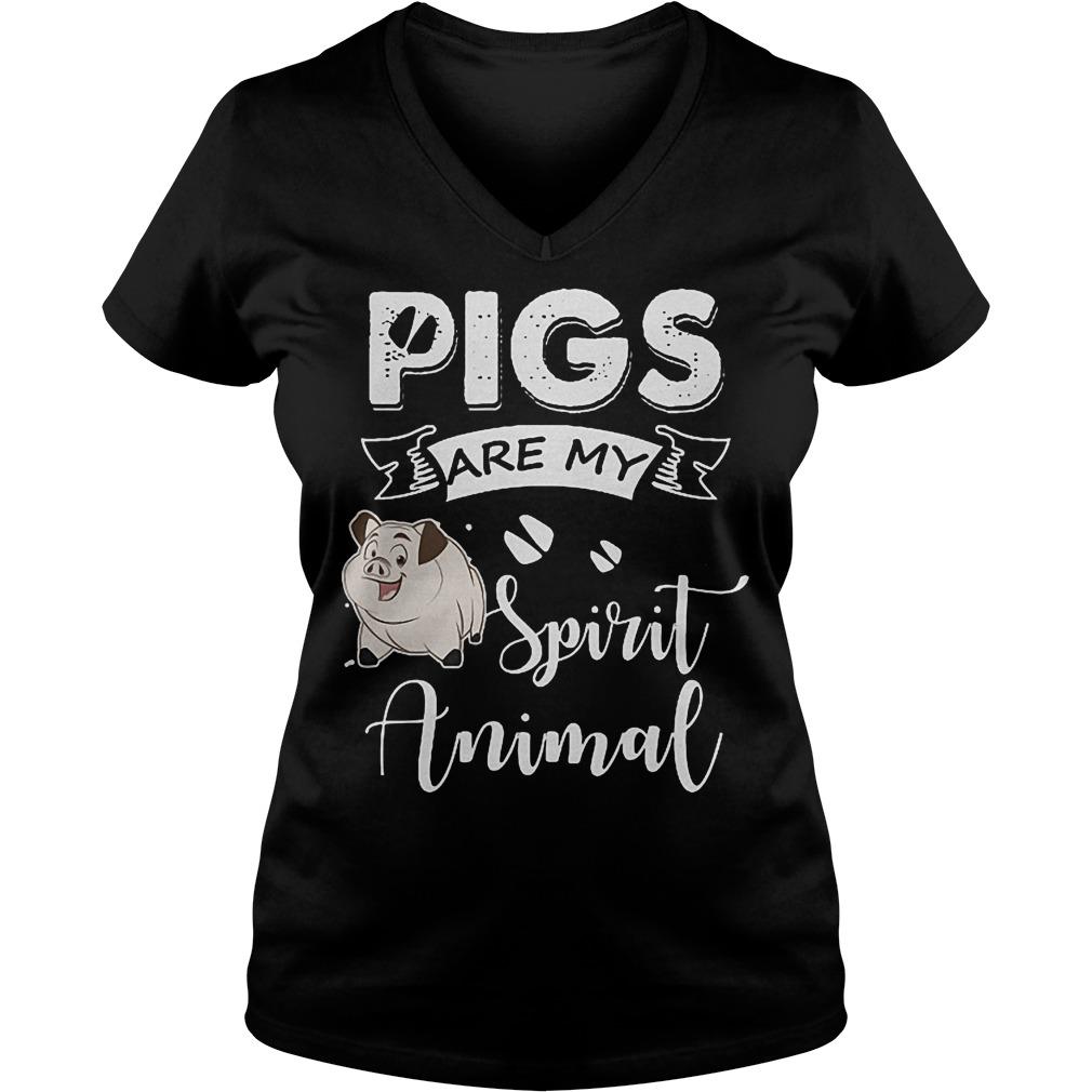 Pig Are My Spirit Animal Shirt Ladies V-Neck
