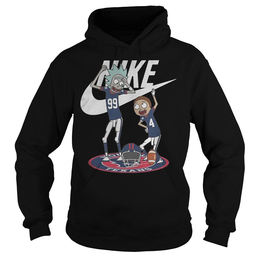 Rick Morty Nike Broncos Texans shirt Hoodie