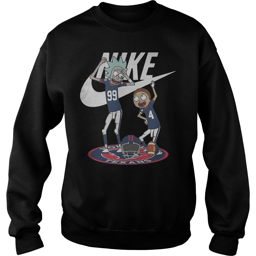 Rick Morty Nike Broncos Texans shirt Sweatshirt Unisex