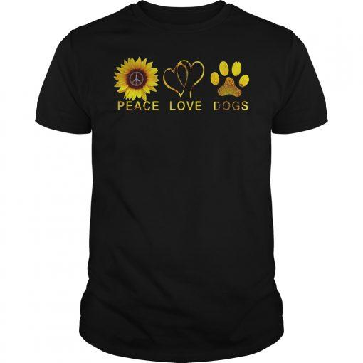 Sunflower Peace Love Dog Shirt