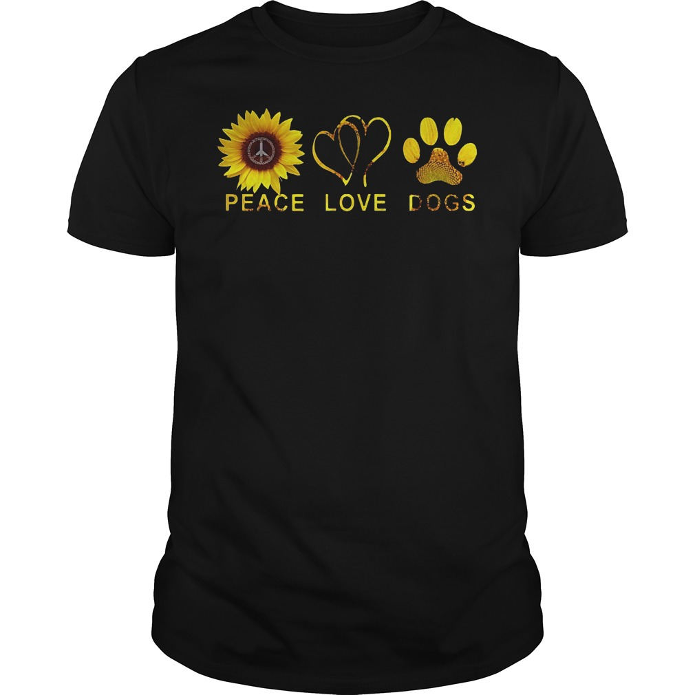 Sunflower Peace Love Dog Shirt