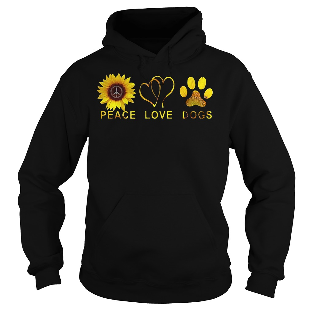Sunflower Peace Love Dog Shirt Hoodie